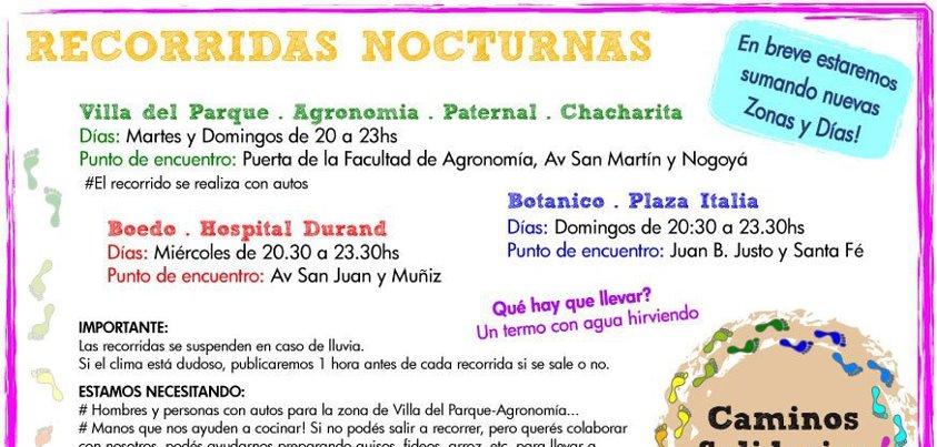 Recorridas Nocturnas en CABA - Buenos Aires