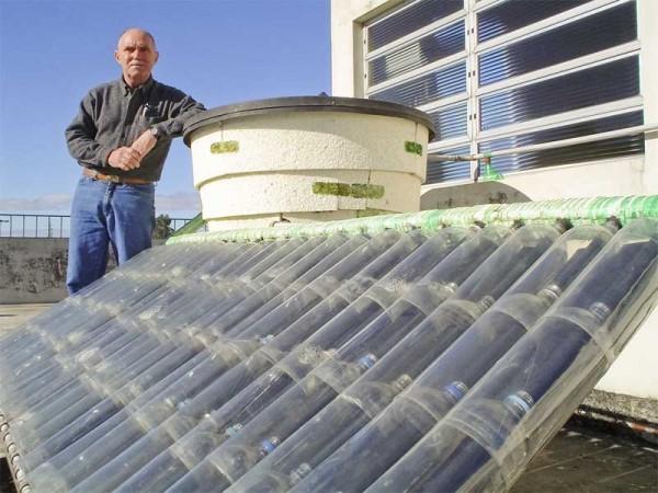 Pasos para hacer un Calentador Solar en casa con botellas PET.
