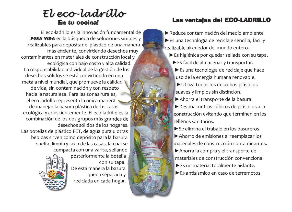 Instructivo para hacer un Ecoladrillo