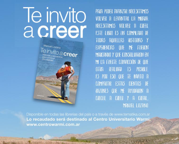 Te invito a creer - Manuel Lozano