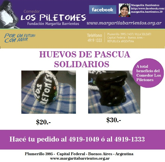 Huevos de Pascua Solidarios a Beneficio del Comedor Los Piletones