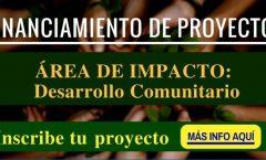 CONVOCATORIA FINANCIAMIENTO DE PROYECTOS EN ÁREAS DE DESARROLLO COMUNITARIO